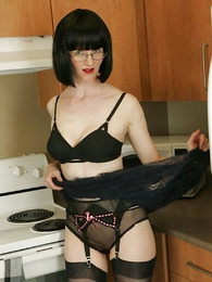 Undies pics - See through skirt, unscrupulous huff and puff and unscrupulous stockings