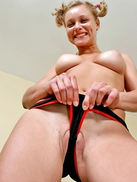 Undies pictures - Panty show with groovy cameltoe moments