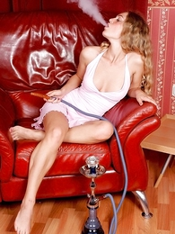 Panty pictures - Sexy smoking Alice slips out of their way dress
