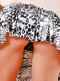 Panty gals - Pricey in short pleated skirt shows her panties