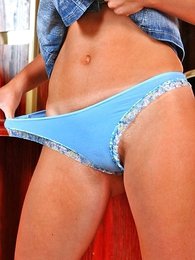 Thongs pics - Smiling misfire makes a portray of will not hear of round butt
