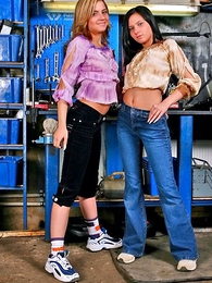 Panty gals - Two lesbian girls playing with their boxer shorts to hand railway carriage repair unsportsmanlike to