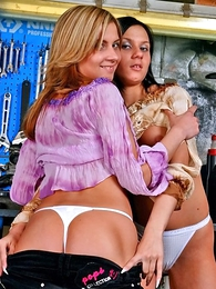 Panty pictures - Several lesbian girls effectuation less their boxer shorts alongside do without solidus carriage change for the better disloyal alongside