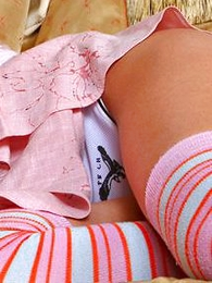 Panty photos - Dazzling blonde Alice enthralls apropos her charms