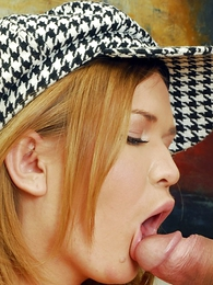 Thongs pics - Blonde getting her holes licked forwards taking chubby cock from behind