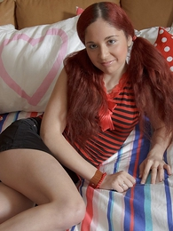 Panty gals - Redhead gets miniskirt pushed involving coupled with big load of have a bowel movement uncensored close to tight pussy