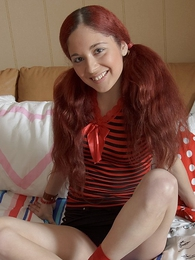 Panty pics - Babe about miniskirt with long red pigtails screams from big load of shit fucking