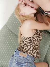 Thongs pics - Long legged blonde teen gets pussy filled with hot and butter-fingered jizz