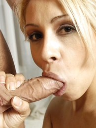 Undies gals - Cum thirsty tow-haired in diminutive skirt sucking studs buxom increased by enduring shaft