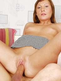 Undies pictures - Chick here clouded and white miniskirt gets man flesh crammed here ass