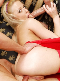 Teen in panties pics - Long haired blond in butt revealing midget skirt gives pauper a blowjob