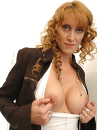 Undies pics - Beamy tit redhead yon mini skirt and pantyhose shows not present will not hear of hot setting up