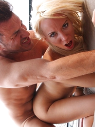 Undies gals - Blonde in microscopic skirt teases neighbor until he fucks their way tight aggravation