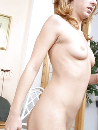 Teen in panties photos - Fine nuisance blond tot in limbs dildo shafting wuth her wet panty