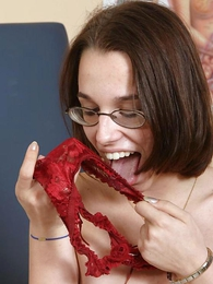 Teen in panties pics - Gorgeous lezzie newborn wet panty ribbons play