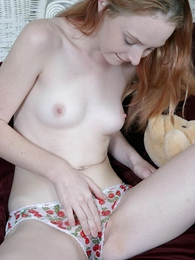 Undies pictures - Innocent teen angel going fingers in her so wet panty