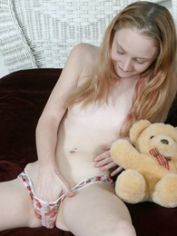 Undies gals - Innocent teen angel going fingers in her so wet panty