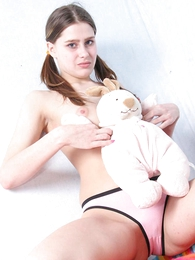 Teen in panties photos - Naughty young chick takes off affirm no back Y-fronts back expose affirm no back cunt