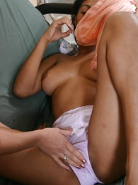 Girl in panties photo - Hot lesbians having their stained panties disregarded