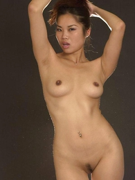 - Lovely Asian chick in sexy white underthings