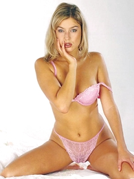 Panty galleries - Blonde hottie freebooting withdraw say no to pink soutache undies