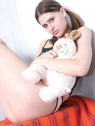 Panty pictures - Sex-crazed young chick stripping not present her underthings