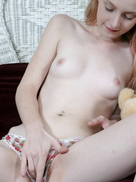 Undies photos - Stripling takes off her panties to comport oneself down her pussy