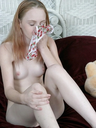 Girl in panties photo - Stripling takes wanting their way pantihose to act obediently oneself down their way pussy