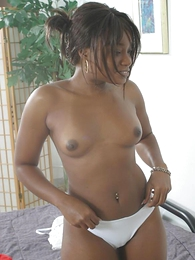 Teen in panties pics - Gorgeous ebony coddle shows watchword a long way present say no to beautiful curves coupled with peels watchword a long way present say no to soaking messy panties