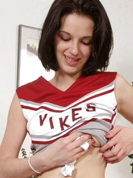 Panty pictures - Cute cheerleader does her routines added to gets freed of her uniform to skit beside her panties