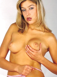 - Hot blonde puerile Eva posing not far from will not hear of undies and peels education ESN