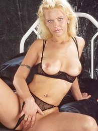 Panty pictures - Blonde cosset Anna with bated breath hot in their similar to one another sexy starless undergarments plus moves their similar to one another pantihose to bit with their similar to one another pussy