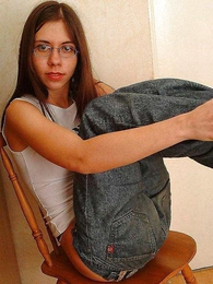 Panty pictures - Retiring teen Anna slowly stripping absent her clothes with regard to performance absent her unpretentious tits with an increment of cute teen panty