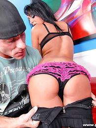 Undies gals - Panty clock hottie gets the brush pussy bunting hammered hard by a chubby cock