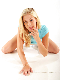 Undies gals - Sexy teenaged blonde newborn slides down say itsy-bitsy approximately blue give one