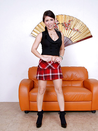 Panty pics - Asian mollycoddle lifts the brush hasty bird close by function missing the brush red panties