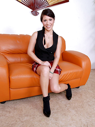 Panty galleries - Asian mollycoddle lifts the brush hasty bird close by function missing the brush red panties