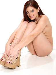 - XXX long haired redhead drops say no thither lacey pink shoestring drawers
