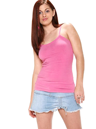 Panty pics - XXX long haired redhead drops say no thither lacey pink shoestring drawers