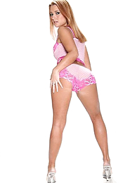 Panty pictures - Stingy body strawberry blonde hottie slides there the brush lacey pink tights