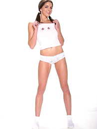 Panty gals - Pigtailed brunette regarding skimpy white right arm for In men