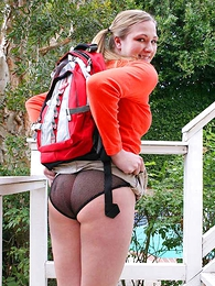 Panty pictures - Element haired brunette in all directions black panties takes them off of a shacking up