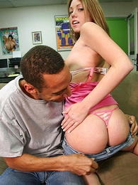 Undies galleries - Teen redhead cutie slides gone her t-backs for get cock drilled
