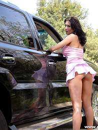 Panty gals - Hot skank shows off the brush tight smalls